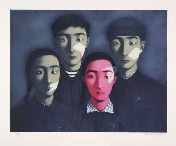 Bloodline: Big Family by Zhang Xiaogang at Galerie Raphael