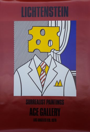 Surrealist Paintings: Ace Gallery (Signed) by Roy Lichtenstein at