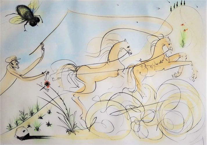 Le Coche et le Mouche (The coach and the fly) by Salvador Dali at
