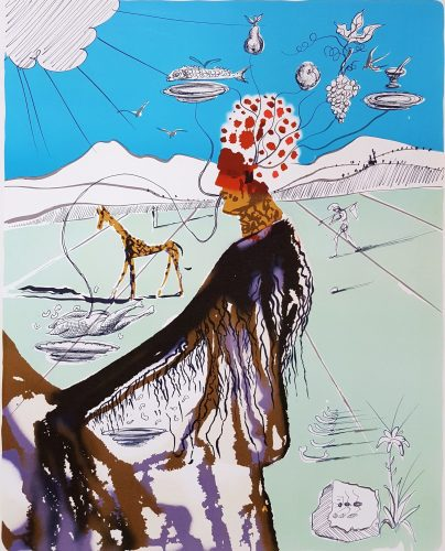 The Earth Goddess (The Chef) by Salvador Dali at