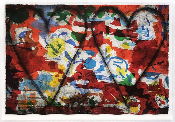 Left handed Woodcut, Etching by Jim Dine at