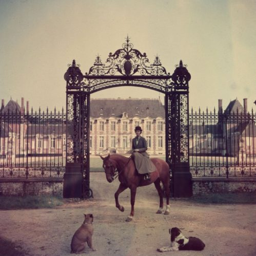 ' Equestrian Entrance ' 1957 Limited Estate Stamped Slim Aarons C print by Slim Aarons at Slim Aarons