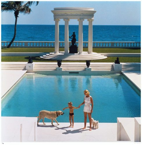 'Nice Pool' 1955 Limited Edition Estate Stamped Slim Aarons C print by Slim Aarons at Slim Aarons