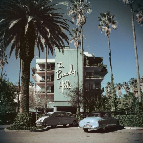 ' Beverly Hills Hotel ' 1957 Limited Estate Stamped Slim Aarons C Print by Slim Aarons at