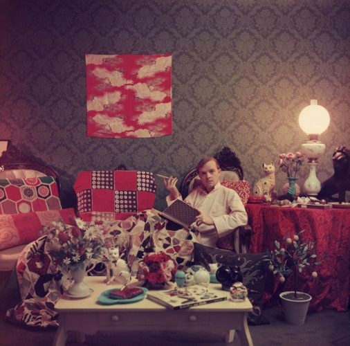 ' Capote At Home ' 1958 Slim Aarons Limited Estate Stamped C Print by Slim Aarons at Slim Aarons