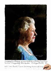 To Her Majesty, Queen Elizabeth II by Peter Blake at Independent Gallery