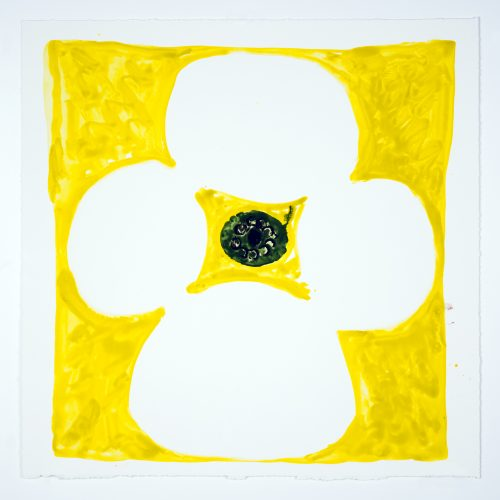 Inner Vision: Yellow + White + Olive by Judy Ledgerwood at Manneken Press