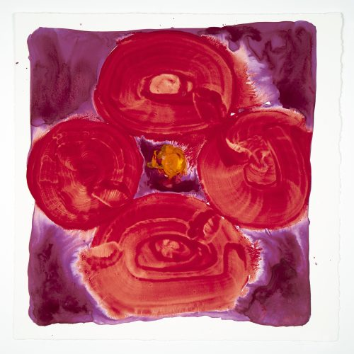 Inner Vision: Rose + Red + Red orange by Judy Ledgerwood at Judy Ledgerwood