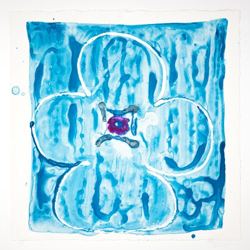 Inner Vision: Blue + Silver + Magenta by Judy Ledgerwood at Judy Ledgerwood