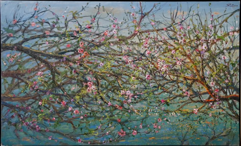 Flowering Branches by the Sea by Bruno Zupan at