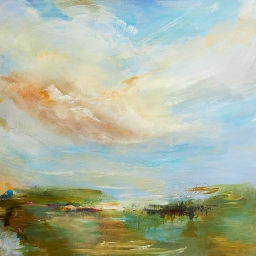 Late Afternoon at the Sea by Kathy Buist at