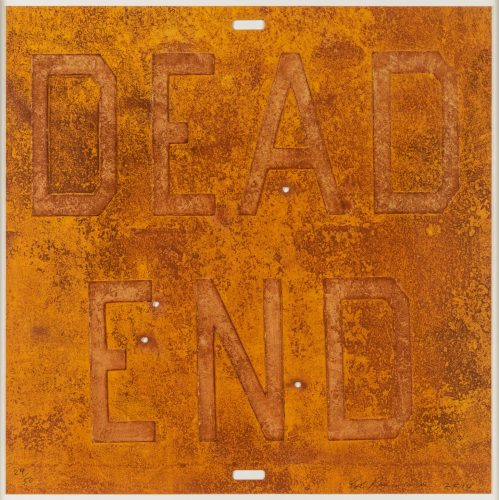 Dead End 2, from Rusty Signs by Ed Ruscha at