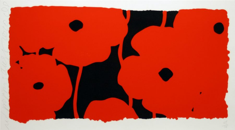 Eight Poppies by Donald Sultan at