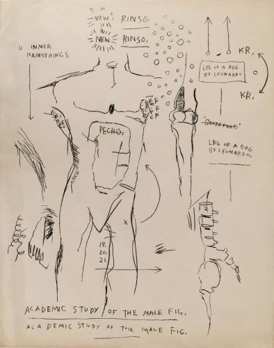 Academic Study of the Male Figure (from the Leonardo series) by Jean-Michel Basquiat at Hamilton-Selway Fine Art
