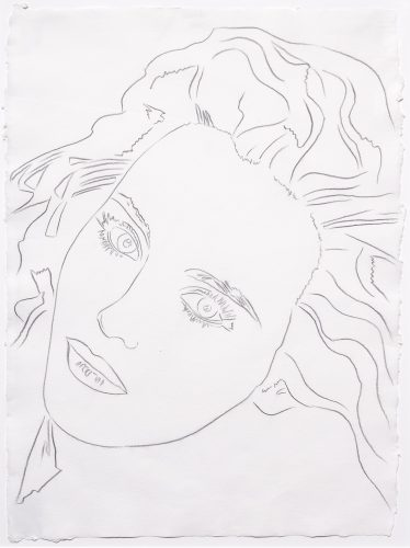 Portrait of Isabelle by Andy Warhol at Andy Warhol