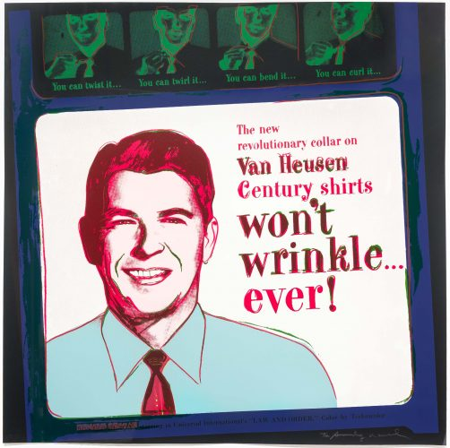 Van Heusen (Ronald Reagan), from Ads by Andy Warhol at Andy Warhol