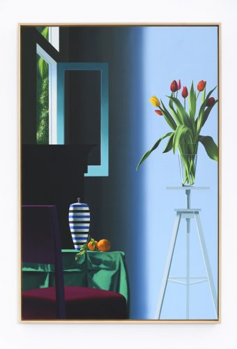 Flowers on Tripod by Bruce Cohen at Leslie Sacks Gallery (IFPDA)