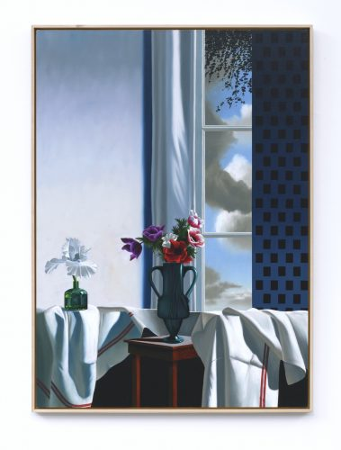 Interior with Bearded Iris and Anemones by Bruce Cohen at Leslie Sacks Gallery (IFPDA)