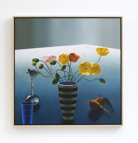 Still Life with Icelandic Poppies by Bruce Cohen at Leslie Sacks Gallery (IFPDA)