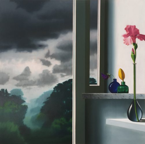 Pink Iris by Bruce Cohen at Leslie Sacks Gallery (IFPDA)