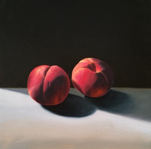 Two Peaches by Bruce Cohen at