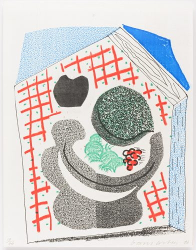 Bowl of Fruit, April 1986 by David Hockney at Leslie Sacks Gallery (IFPDA)