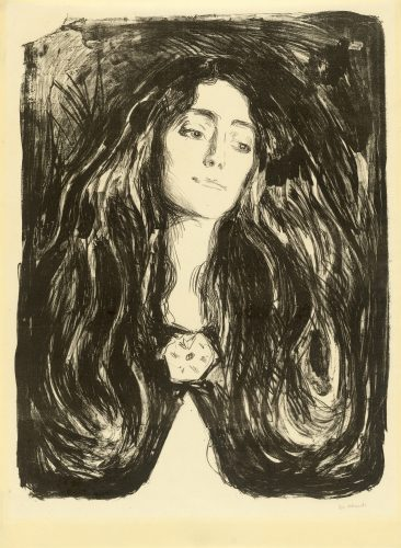 Die Brosche. Eva Mudocci by Edvard Munch at