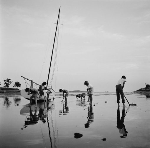 ' Digging For Clams ' 1960 Slim Aarons Limited Estate Stamped C Print by Slim Aarons at