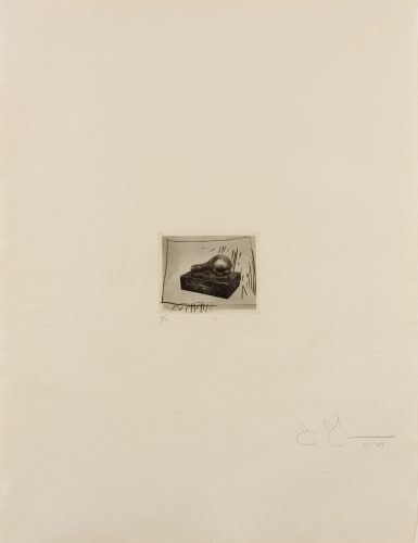 Light Bulb (Small), 1st Etchings, 2nd State by Jasper Johns at