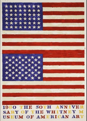 Two Flags (Whitney Anniversary) by Jasper Johns at Jasper Johns