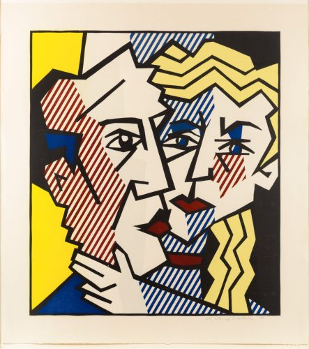 The Couple, from the Expressionist Woodcut series by Roy Lichtenstein at