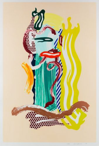 Portrait, from Brushstroke Figures series by Roy Lichtenstein at