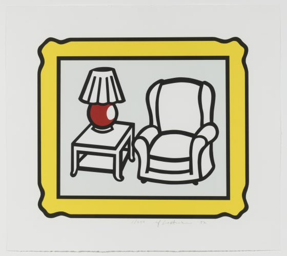 Red Lamp by Roy Lichtenstein at