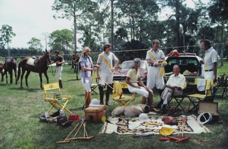 ' Polo Party ' 1981 Slim Aarons Limited Estate Stamped C Print by Slim Aarons at