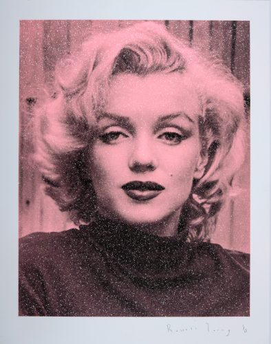 Marilyn Hollywood – Black on Pink by Russell Young at Russell Young