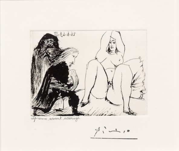 La Celestine… from the 347 series by Pablo Picasso at Leslie Sacks Gallery (IFPDA)