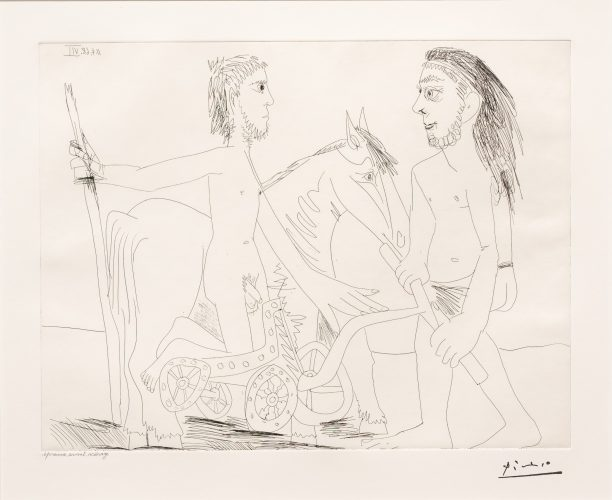 Television: Combat de Chars a l'Antique, from the 347 Series by Pablo Picasso at Leslie Sacks Gallery (IFPDA)