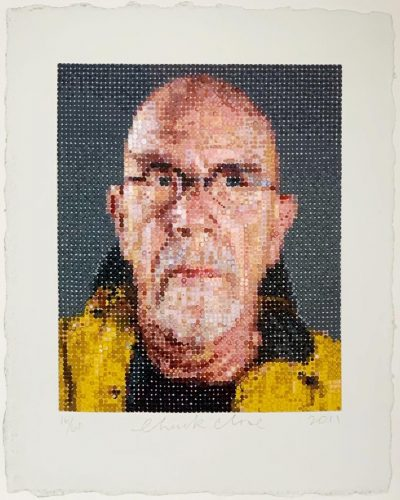Self Portrait (1) by Chuck Close at