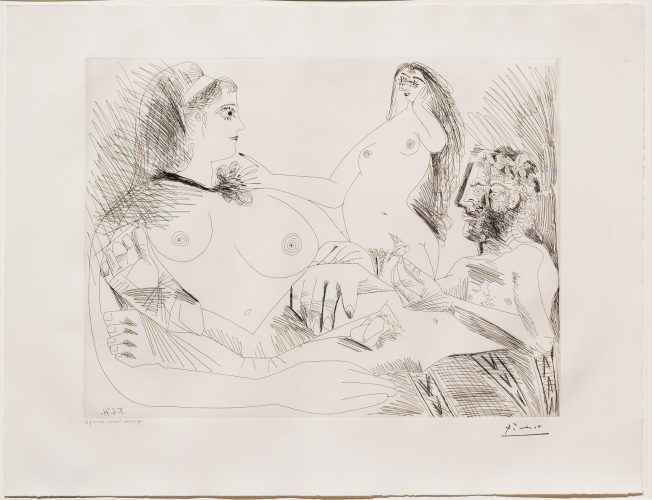 Belle Jeune Femme a sa Toilette Revant…, from the 156 Series by Pablo Picasso at Leslie Sacks Gallery (IFPDA)