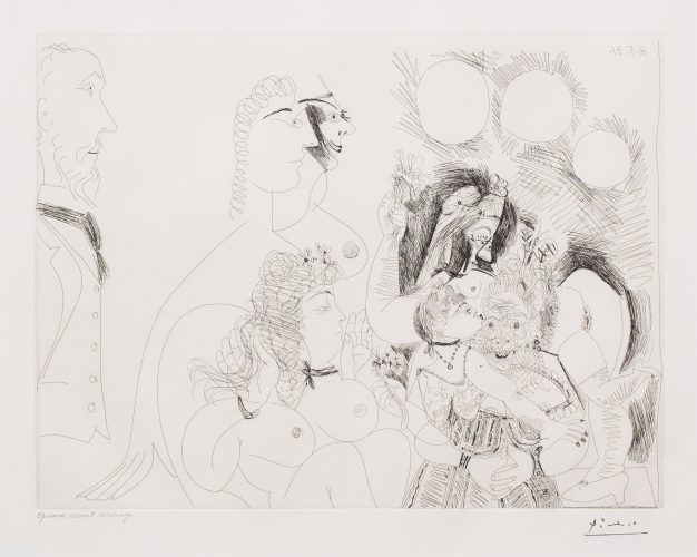 La Fete de la Patronne…, from the 156 Series by Pablo Picasso at Leslie Sacks Gallery (IFPDA)