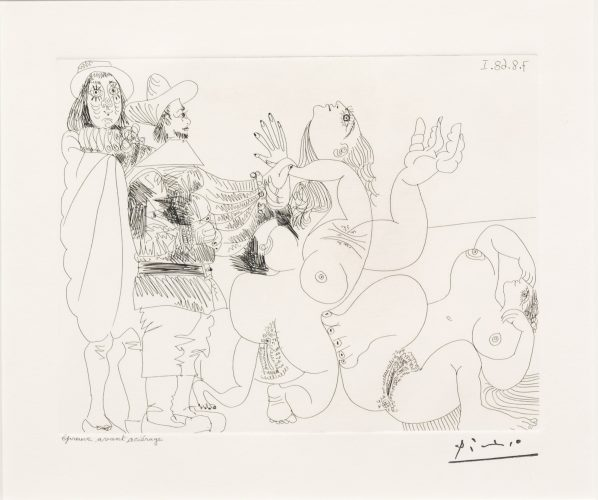 Jeune Seigneur Fantoche…, from the 347 Series by Pablo Picasso at Leslie Sacks Gallery (IFPDA)