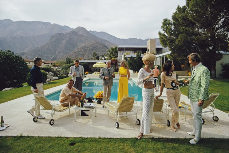Desert House Party by Slim Aarons at