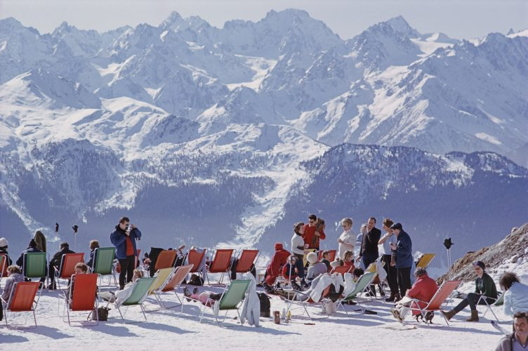 Lounging in Verbier by Slim Aarons at