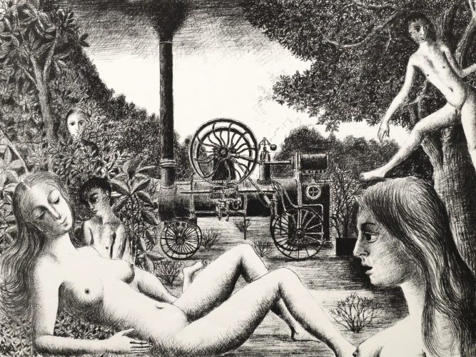 Locomobile by Paul Delvaux at