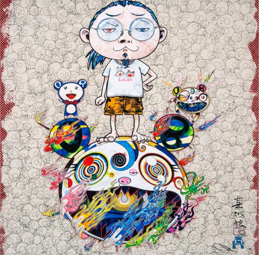 Obliterate the self and even a fire is cool by Takashi Murakami at