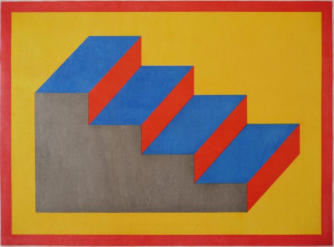 Steps (Form Derived from a Cubic Rectangle) by Sol LeWitt at