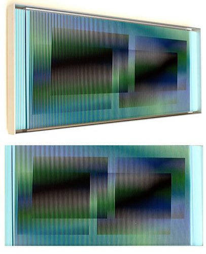 Chromointerference manipulable marion C by Carlos Cruz-Diez at