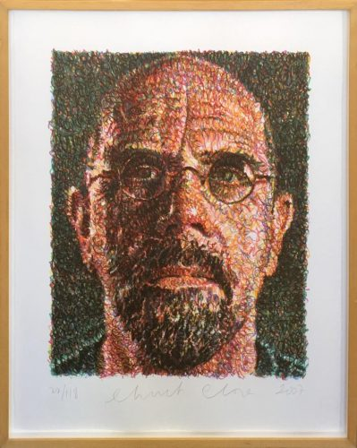 Self Portrait (Lincoln Center) by Chuck Close at