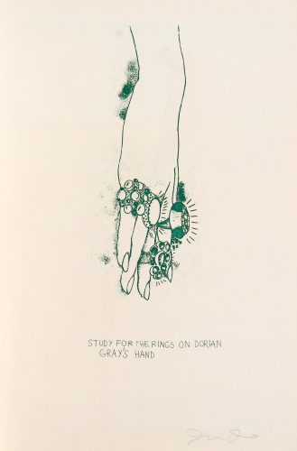 Study for the Rings on Dorian Gray's Hand by Jim Dine at