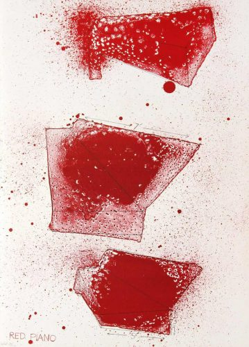 Red Piano by Jim Dine at